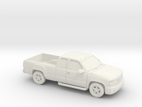 1/87 1999-02 GMC Sierra Extendet Custom in White Strong & Flexible