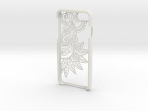 Floral 2 Iphone 7 Case in White Natural Versatile Plastic