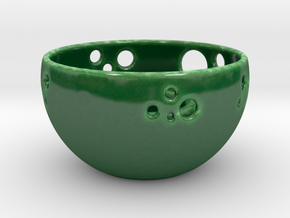 Tealight Candle Holder TF in Gloss Oribe Green Porcelain