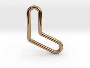 Aussie Boomerang Tubular Pendant in Polished Brass