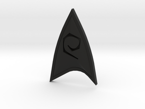 Star Trek Online Operations Combadge in Black Natural Versatile Plastic