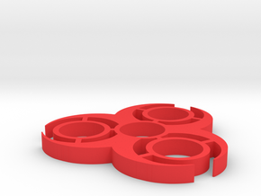 Bio hazard spinner in Red Processed Versatile Plastic