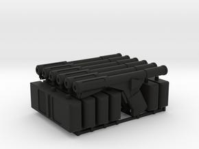 6 Sandman DS Guns and Trackers (Logan's Run), 1/6 in Black Natural Versatile Plastic