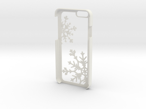 Snowflake iPhone 6/6s Case in White Natural Versatile Plastic