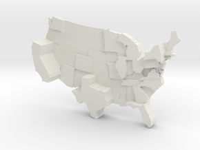 USA By Electoral Votes in White Strong & Flexible