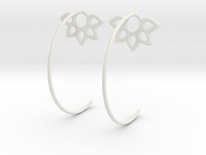 Flower Earring in White Natural Versatile Plastic