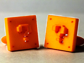 Super Mario ? Block links in Orange Processed Versatile Plastic