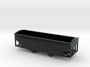 N Scale C&O Twin Offset Hopper W:radial Dreadnough in Black Hi-Def Acrylate