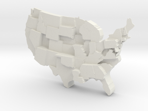 USA by Incarceration in White Natural Versatile Plastic