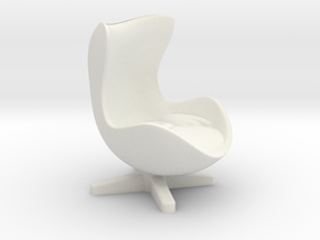 Arne Jacobson Egg Chair Inspired in White Strong & Flexible