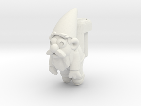 Brass Gnomeckles (3mm) in White Natural Versatile Plastic