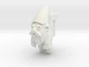 Brass Gnomeckles (3mm) in White Natural Versatile Plastic
