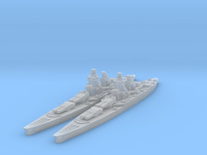 Richelieu battleship (1943 post-refit) in Frosted Ultra Detail