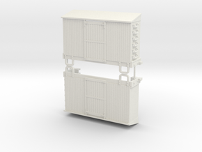 Sn3 13ft boxcar body (kit form)  in White Natural Versatile Plastic