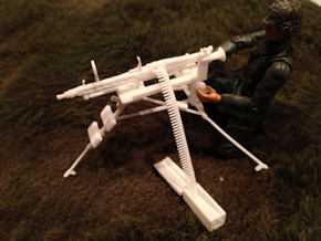 1:16 Lafette Tripod & MG42 in White Strong & Flexible