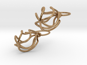 Soft Whirl Pair in Polished Brass (Interlocking Parts)
