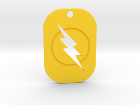 The Reverse Flash Keychain in Yellow Strong & Flexible Polished