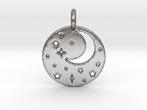 Starry Night Pendant in Natural Silver