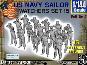 1-144 US Navy Watchers Set15 in Smooth Fine Detail Plastic