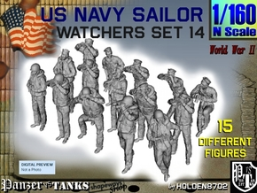 1-160 US Navy Watchers Set14 in Smooth Fine Detail Plastic
