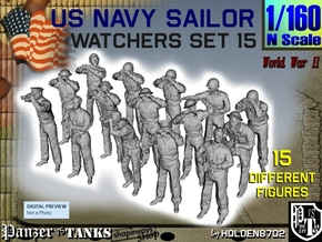 1-160 US Navy Watchers Set15 in Smooth Fine Detail Plastic