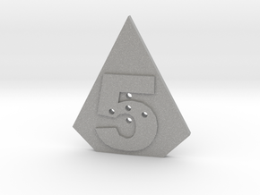 5-hole, Number 5, 5 Sided Shape Button in Aluminum