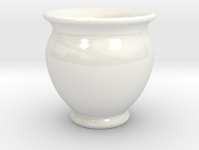Antiquities Vessel 23, Cup No Handles in Gloss White Porcelain