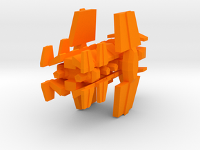 Colour Free Republic Destroyer in Orange Processed Versatile Plastic