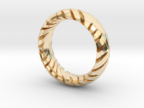 TIGER RING  in 14k Gold Plated Brass: 7 / 54