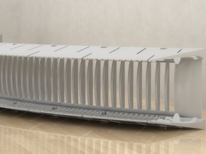 DeAgo Falcon Engine Grill Bent So It fits boundary in White Processed Versatile Plastic