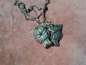Owl pendant in Polished Bronze Steel