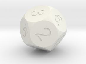 D12 Sphere Dice in White Strong & Flexible