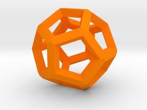 Dodecahedron 5 in Orange Processed Versatile Plastic