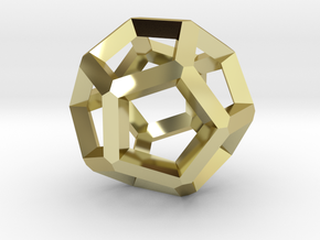 Dodecahedron 5 in 18k Gold