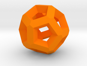 Dodecahedron More in Orange Processed Versatile Plastic