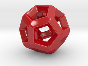 Dodecahedron More 10 in Gloss Red Porcelain