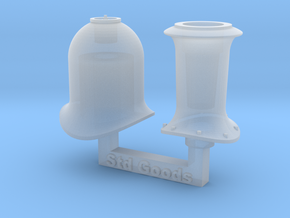 HO NSWR Std Goods Funnel & Steam Dome in Smooth Fine Detail Plastic