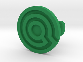 Labyrinth Cufflink Embossed in Green Processed Versatile Plastic