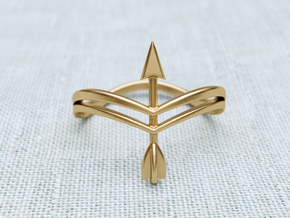 Bow Ring in Raw Brass: 8.5 / 58