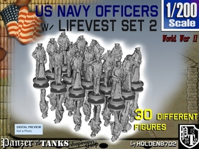 1-200 USN Officers Lifevest Set2 in Smoothest Fine Detail Plastic