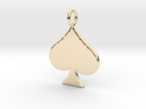 QoS Pendant  in 14k Gold Plated Brass