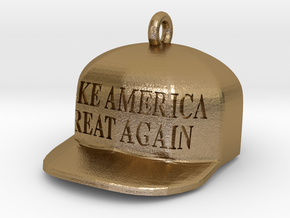 Make America Great Again charm in Polished Gold Steel