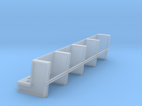 YT1300 DEAGO HALL PILLARS TOP SECTION in Smooth Fine Detail Plastic