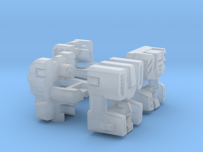 Technobots Head 2-pack in Smooth Fine Detail Plastic