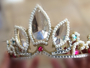 Rapunzel's Tiara in White Strong & Flexible