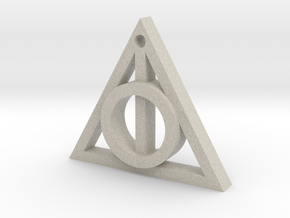 Death Relics keychain in Sandstone