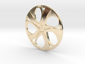 Wheel in 14K Yellow Gold