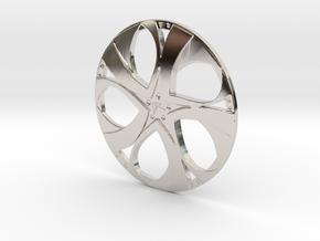 Wheel in Rhodium Plated Brass