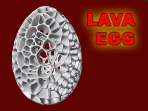 Lava Easter Egg in White Processed Versatile Plastic