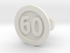 Cufflink 60 in White Natural Versatile Plastic